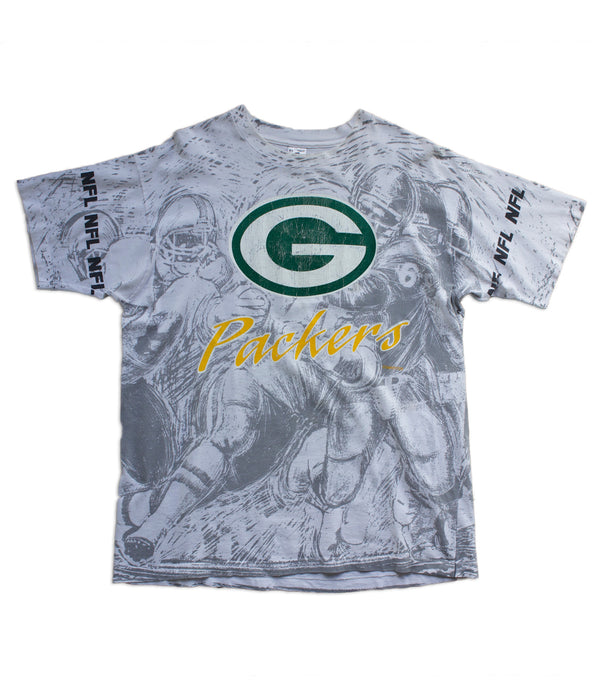 Vintage Green Bay Packers T-Shirt - All Over