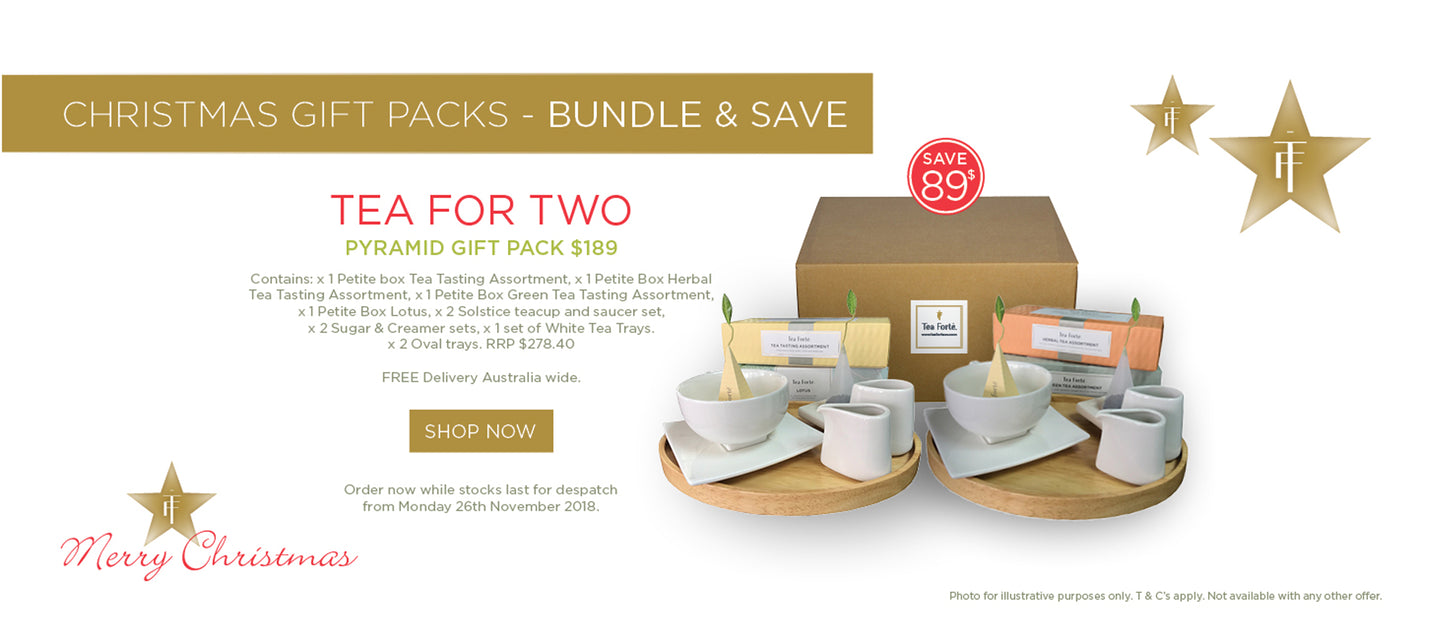 Tea Forte Tea For Two Christmas Gift Pack
