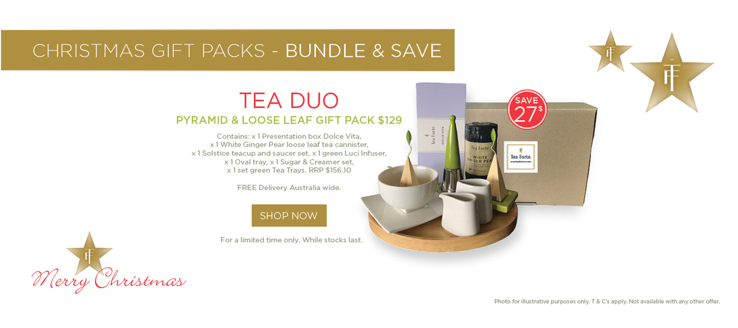 Tea Forte Tea Duo Christmas Gift Pack