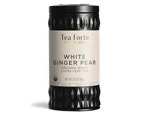 White Ginger Pear Loose Leaf Canister