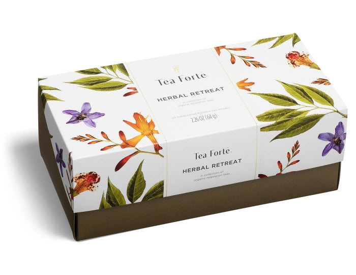 Herbal Retreat-Presentation Box 20 Infusers  + Free Tea Tray Set