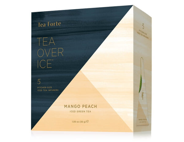 Iced Mango Peach Tea Over Ice 5 Infusers