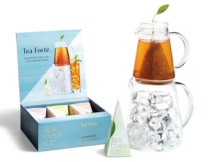 Tea Over IceⓇ-Pitcher Set Includes Sampler Pack - 5 Infusers