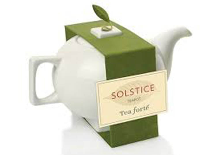 Solstice Tea Pot With Band