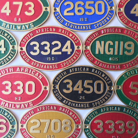Steam Train Cabside Number Plate Fridge Magnets