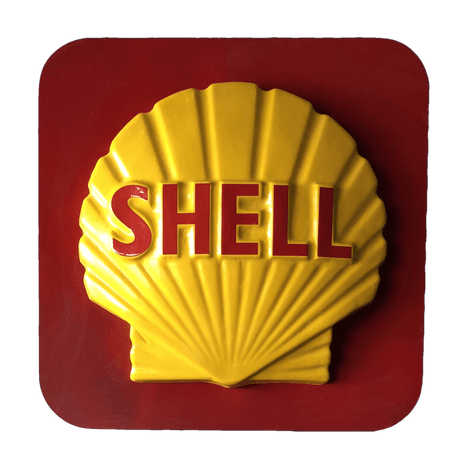Vintage Shell Sign Wall Art