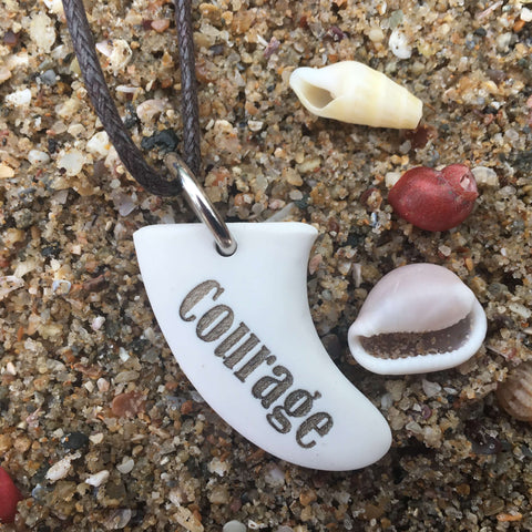 Courage Miniature Surfboard Fin Necklace