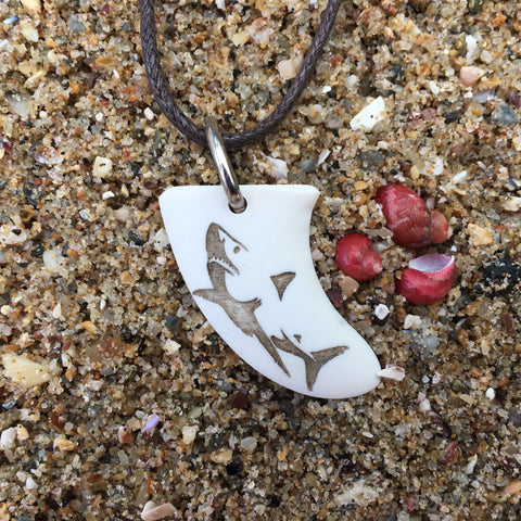 Shark Miniature Surfboard Fin Necklace