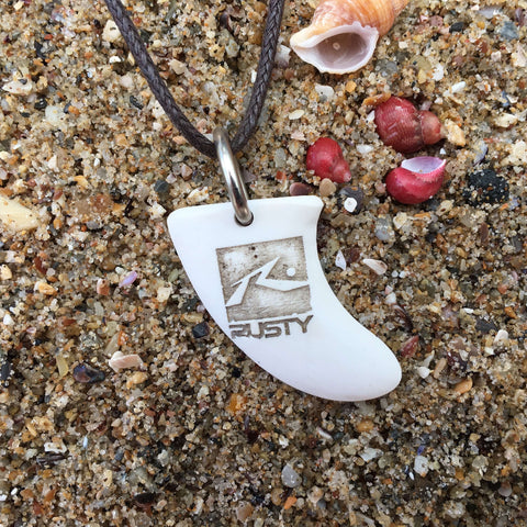Rusty Miniature Surfboard Fin Necklace