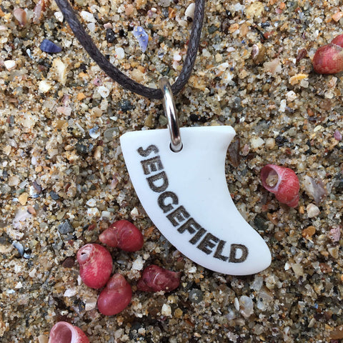 Sedgefield Miniature Surfboard Fin Necklace