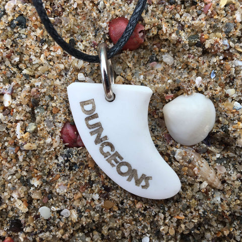 Dungeons Miniature Surfboard Fin Necklace