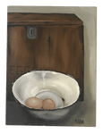 Eggs in Enamel Bowl