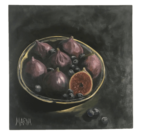 Figs in Enamel Bowl