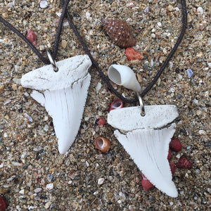 Great white shark tooth necklace by hand africa great white shark tooth necklace aloadofball Gallery