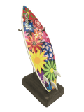 Miniature Surfboard Replica - Flower Power