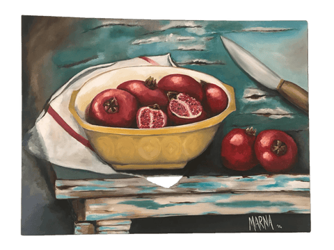 Pomegranates in Bowl