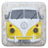 Volkswagen Split Window Kombi Wall Art - Yellow and White