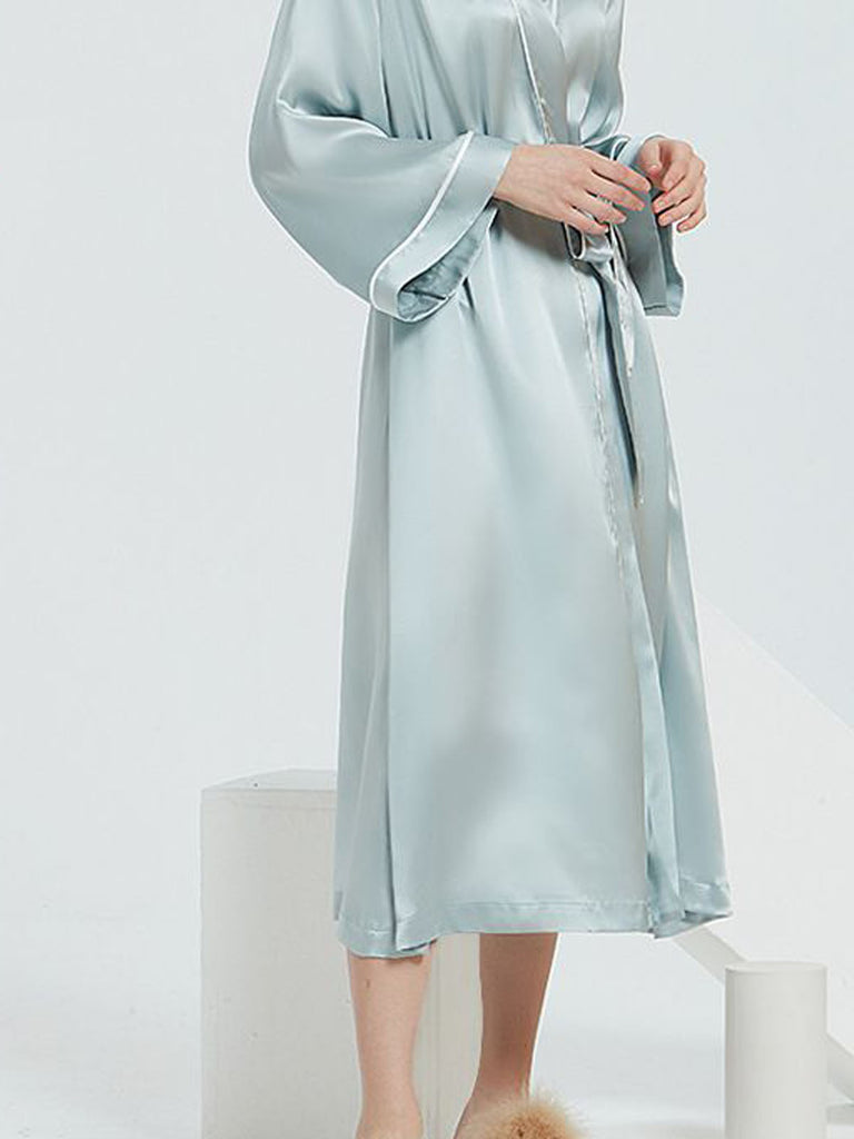 Contra Trim And Full Length Silk Robe