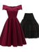 2PCS Top Seller 1950s Off Shoulder Dress& Black Petticoat