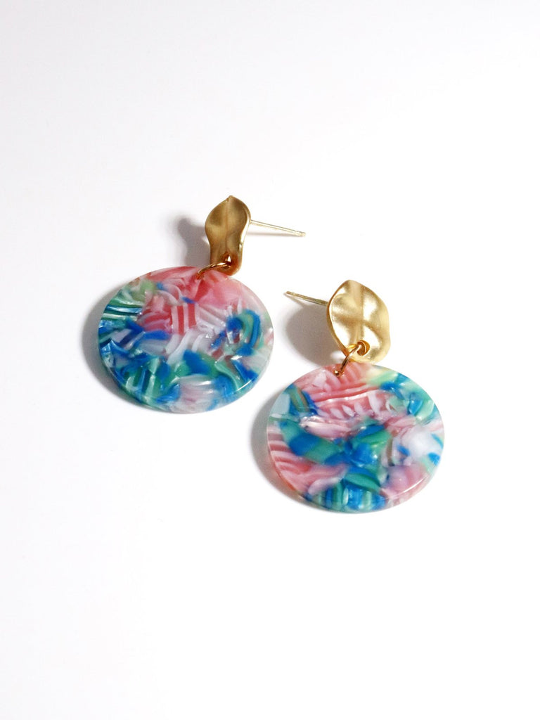 Vintage Colorful Emanation Earrings