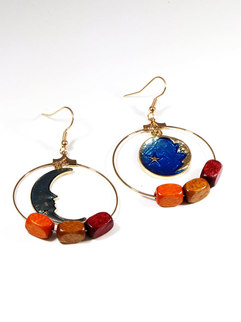 Vintage The Earth And Moon Earrings