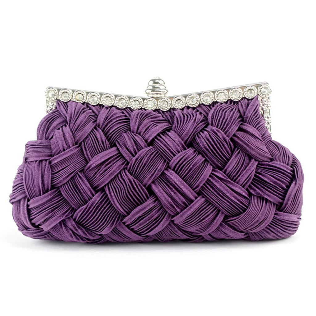 Retro Weaving Woven Clutch Bag