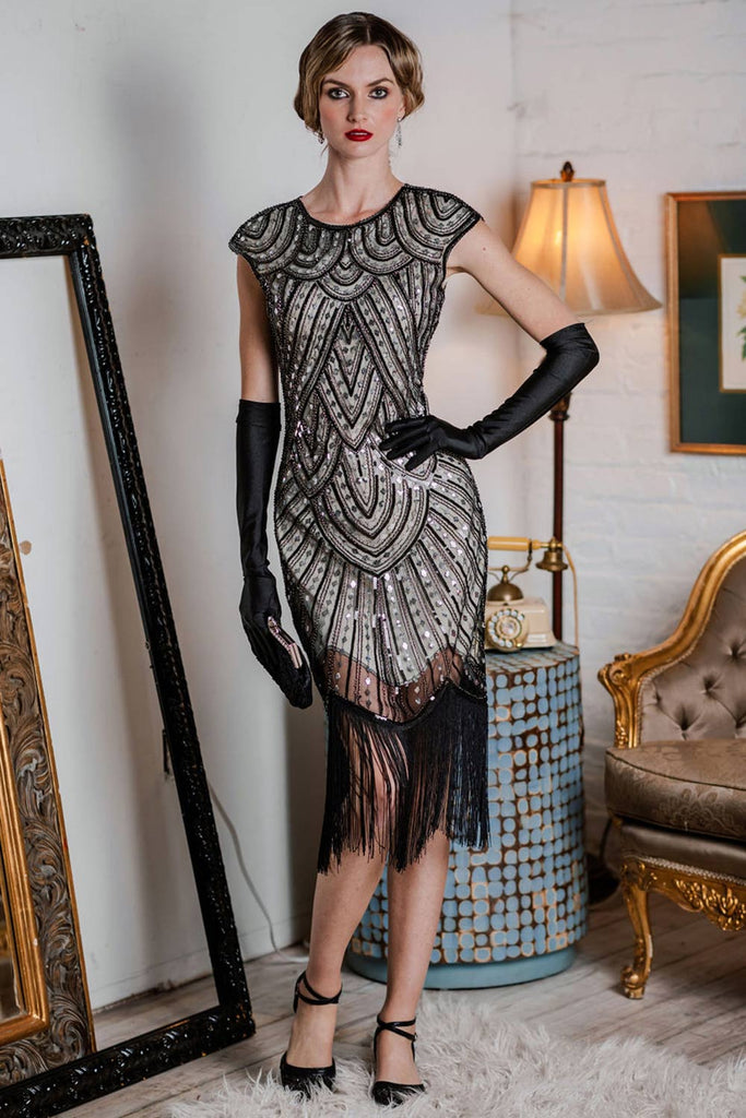 [US Warehouse] 1920s Fringed Flapper Gatsby Dress