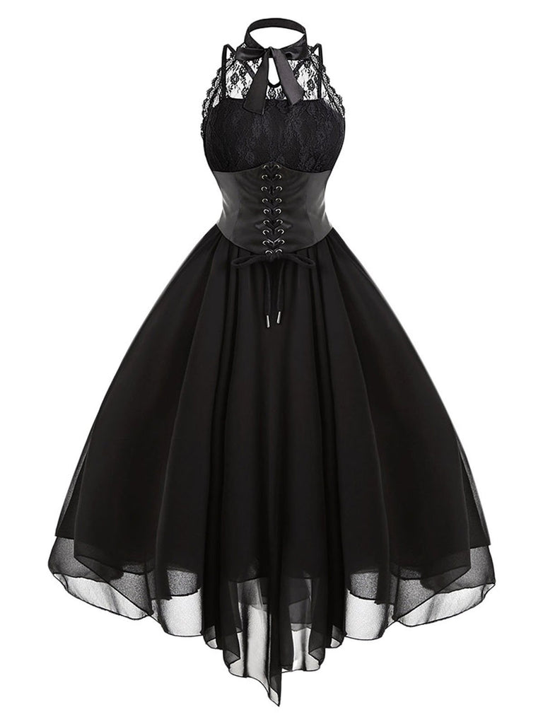 Halloween Gothic Steampunk Lace Dress