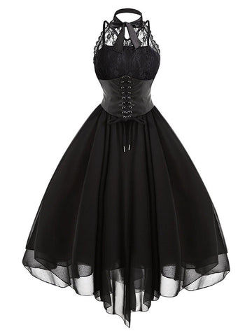 Gothic Steampunk Lace Dress