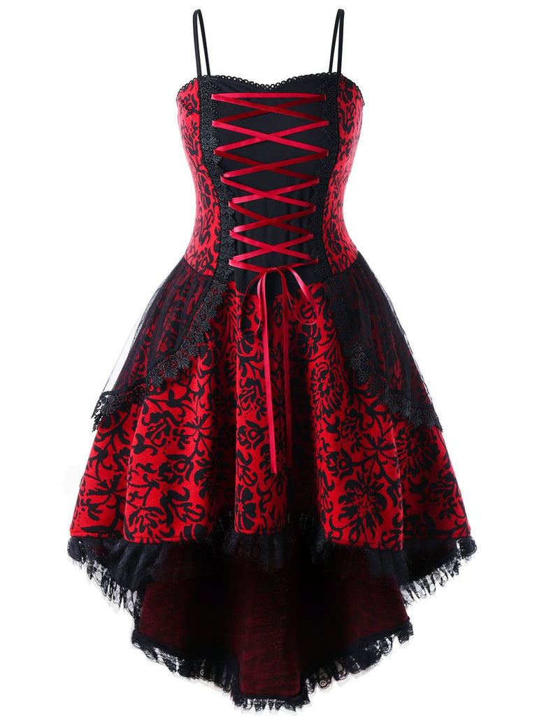Halloween Gothic Lace Steampunk Dress