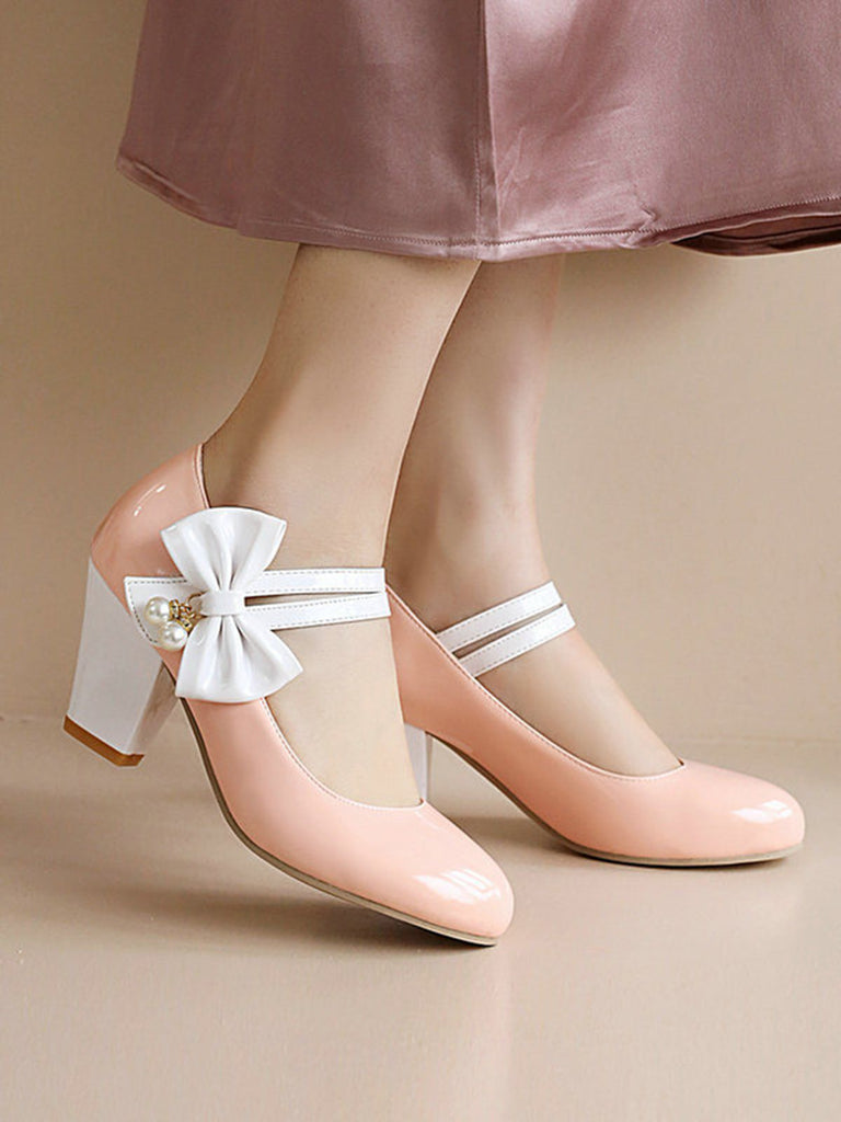 Straps Bowknot High Heels Shoes