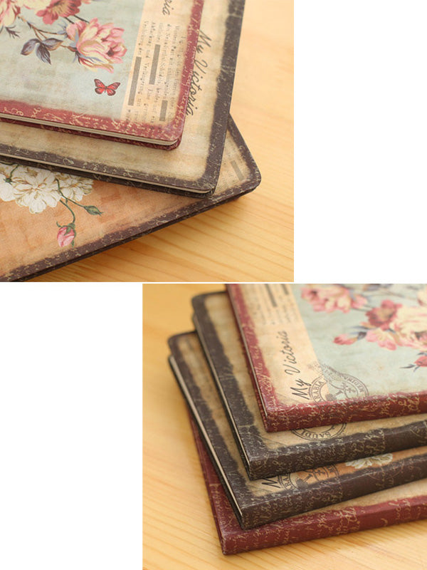 Vintage Cardboard Lily Notebook (2 Sizes)