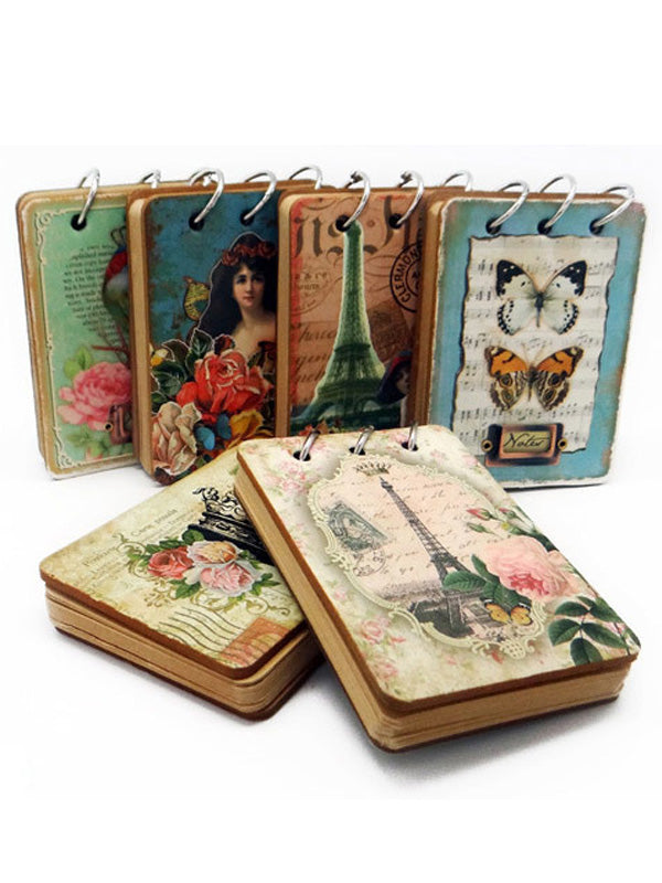 Vintage Loose-Leaf Music Note Butterfly Notebook