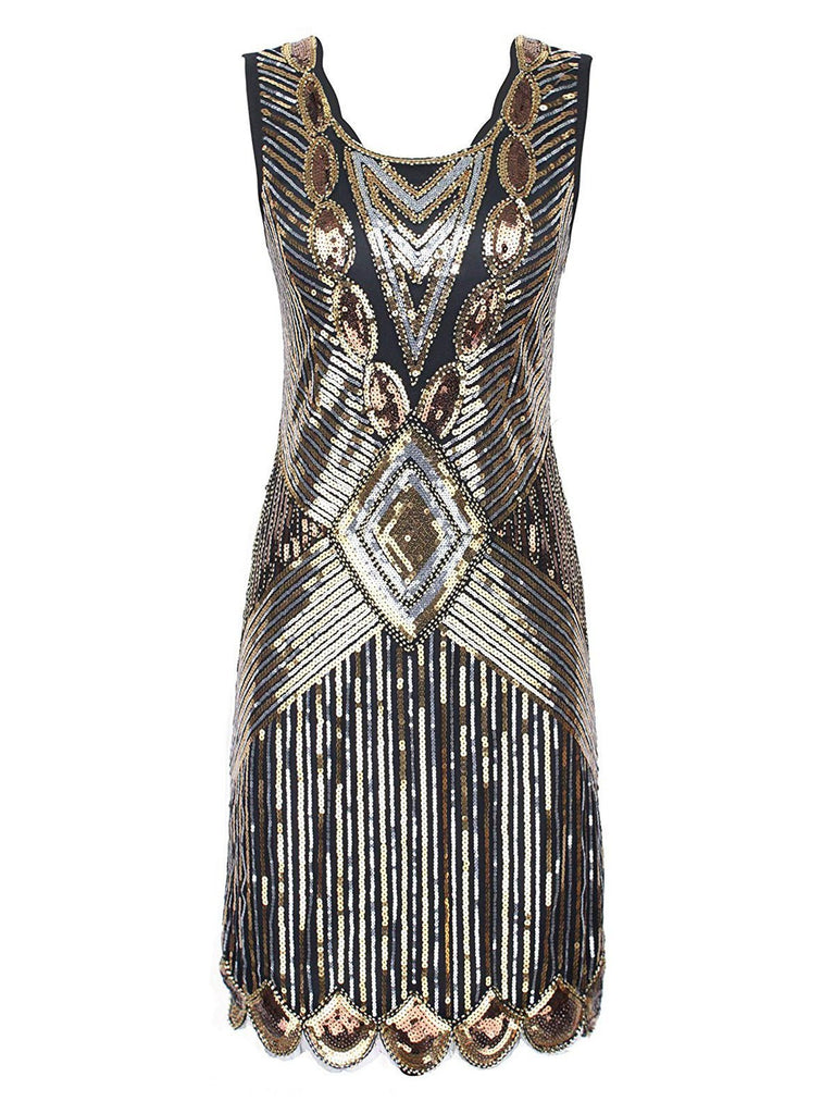 1920s Sequin Evening Dress