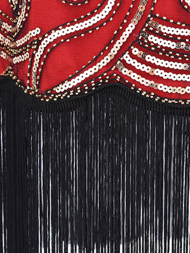 1920s Flapper Sequin Gatsby Dress
