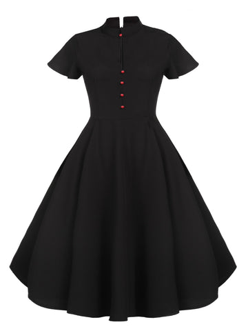 1950s High Neck Baltimore Swing Dress