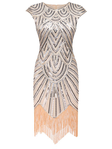 1920s Tassel Gatsby Flapper Dress