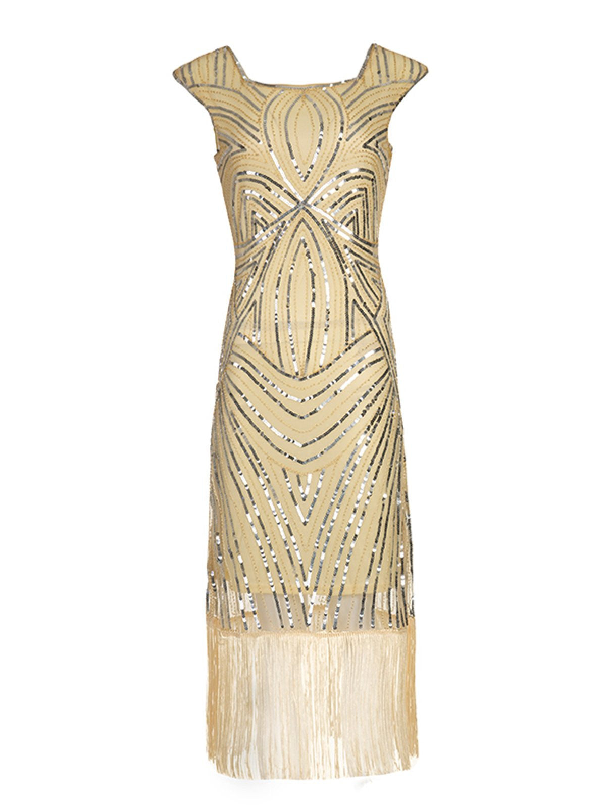 8381c067a 1920s Sequin Flapper Gatsby Dress - Retro Stage - Chic Vintage ...