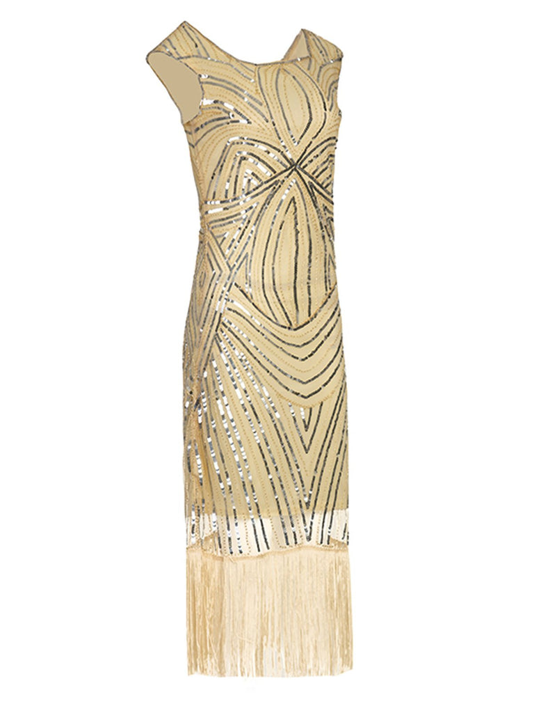 1920s Sequin Flapper Gatsby Dress