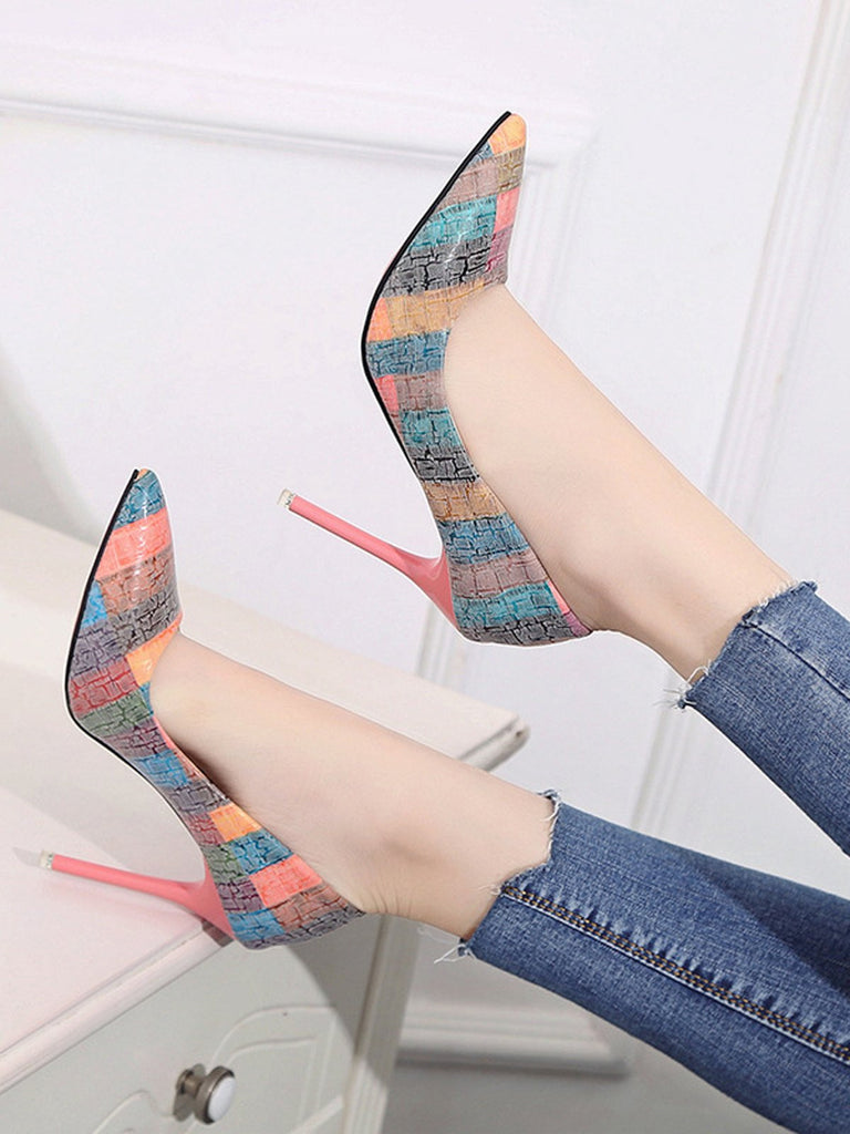 Vintage High Heels Pointed Toe Shoes