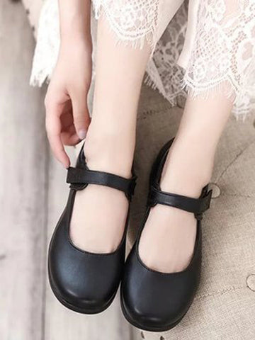 Vintage Leather Round Toe Shoes