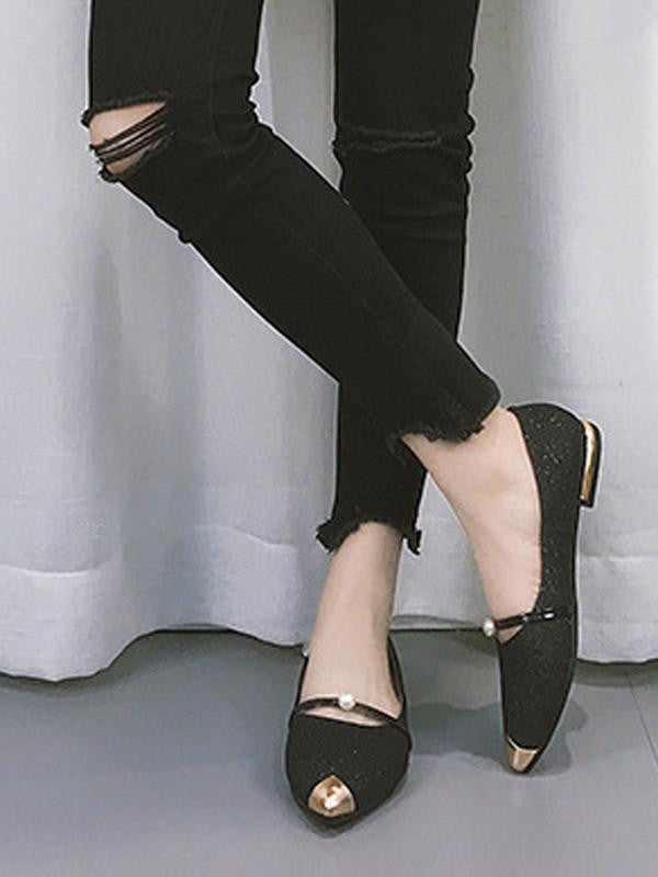 ed4c7326acf5d Vintage Pointed Toe Flat Shoes