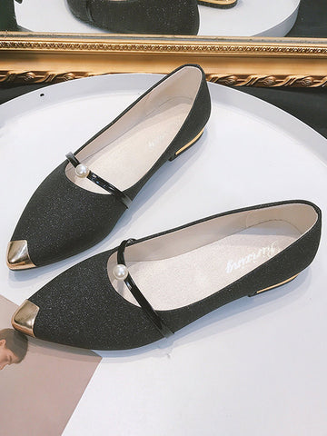 Vintage Pointed Toe Flat Shoes