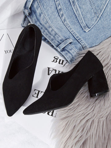 Vintage Pointed Toe Slip-on Shoes