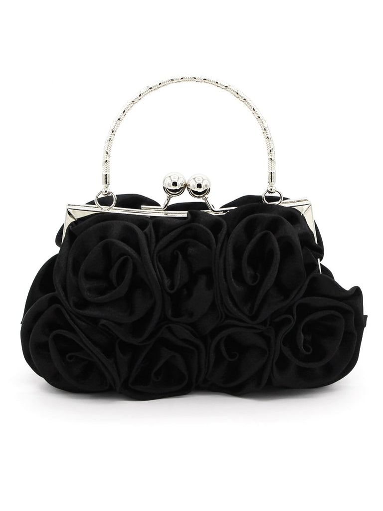 Retro Silky Rose Braidal Clutch Bag