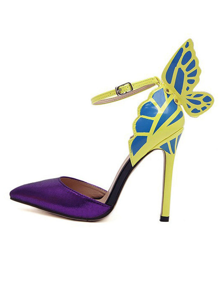 Retro Butterfly Décor Pointed Shoes