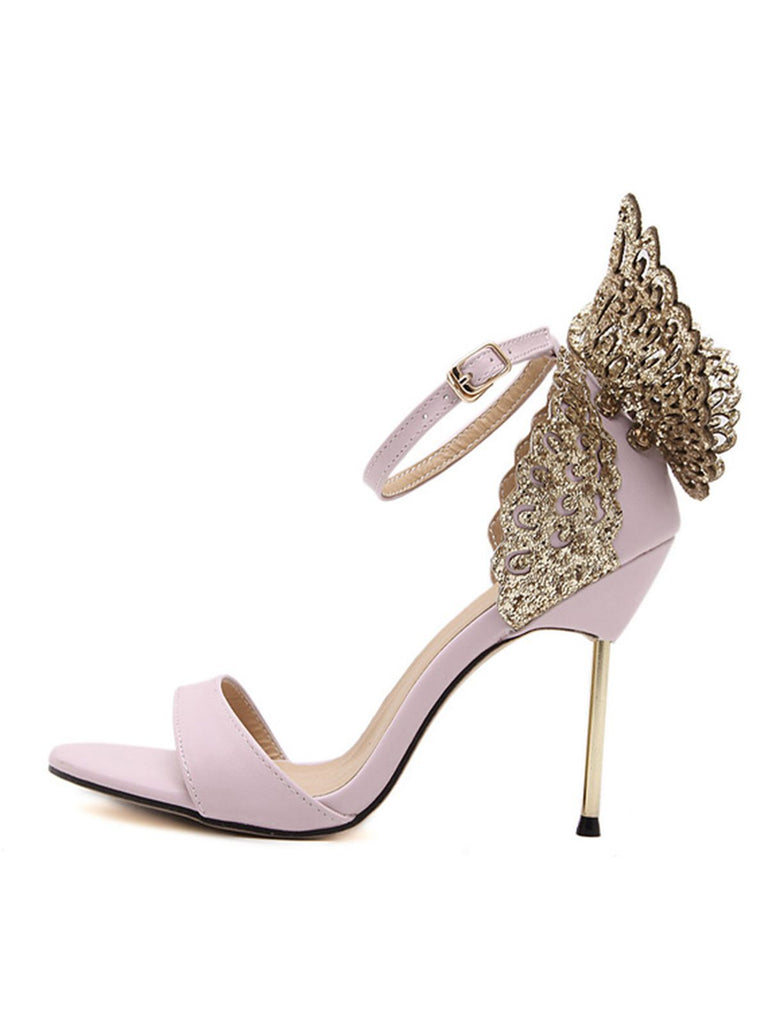 Retro Butterfly Décor High Heel Shoes