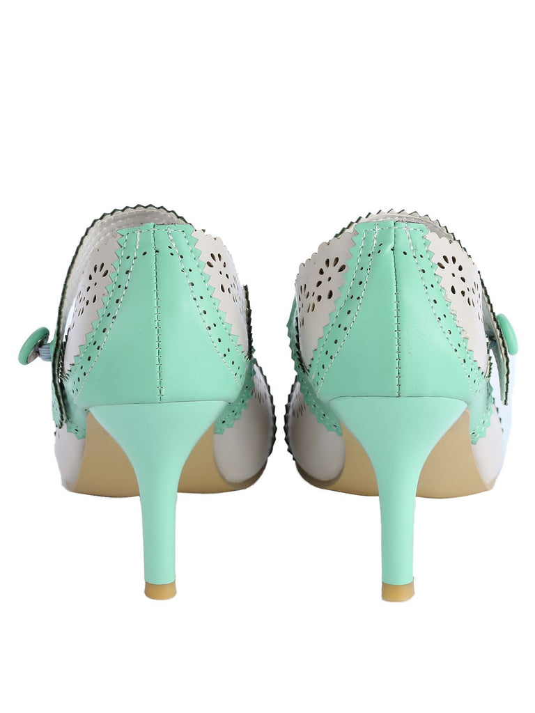 Retro Cut-Out High Heel Shoes