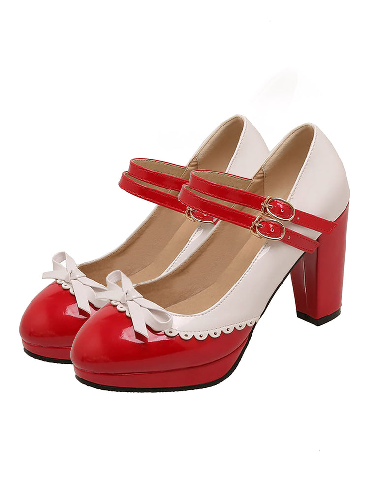Retro Mary Jane High Heels Shoes