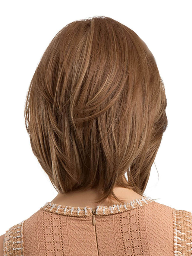 Vintage Side Parting Natural Bob Synthetic Wig